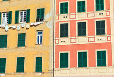 Homes exterior in Camogli Stock Photography