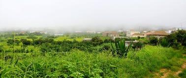 Homes and farmfield Stock Photo