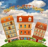 Homes and the field Royalty Free Stock Images