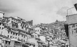 Homes of Five Lands, Italy. Infrared view.  stock photos