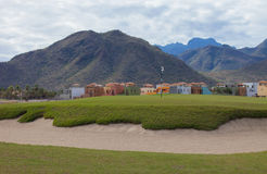 Homes on a Golf Course. Green gulf course and new homes at Loreto Bay, Nopolo, Baja Sur, Mexico Royalty Free Stock Photography