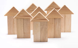 Homes in group Stock Image