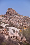 Homes on a Hillside in Cappadocia Turkey Stock Photo