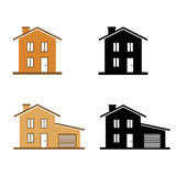 Homes icons set Royalty Free Stock Photo