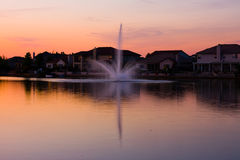 Homes by the lake Royalty Free Stock Image