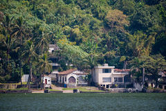 Homes by Lake Amatitlan Stock Photo