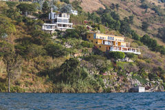 Homes on Lake Atitlan Stock Photo