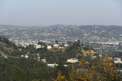 Homes Los Angeles. A shot of homes located in the mountainous region in california Stock Image