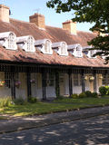 Homes at the model village of Port Sunlight, created by William Hesketh Lever for his Sunlight soap factory workers in 1888 Royalty Free Stock Image