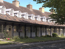Homes at the model village of Port Sunlight, created by William Hesketh Lever for his Sunlight soap factory workers in 1888 Stock Images