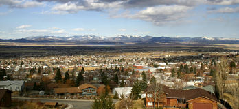 Homes and mountains in helena montana Royalty Free Stock Photos