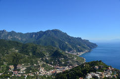 Homes Nestled in the Rolling Hills Along the Amalfi Coast Royalty Free Stock Photo