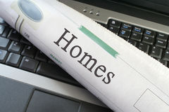 Homes newspapers section Royalty Free Stock Photos