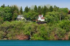 Homes on the Niagara river Stock Photography