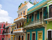 Homes in Old San Juan Royalty Free Stock Images