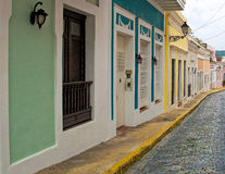 Homes in Old San Juan Stock Photography