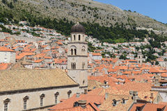 Homes in the Old Town of Dubrovnik Stock Photo