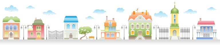 Homes On A Street. Royalty Free Stock Photo