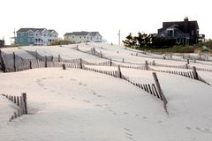 Homes In The Outer Banks, North Carolina Stock Photo