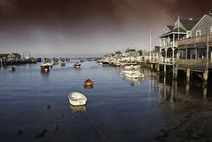 Homes over Water in Nantucket Stock Image