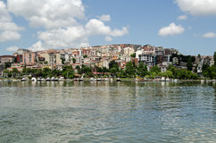 Homes overlooking the Golden Horn, Istanbul Royalty Free Stock Photo