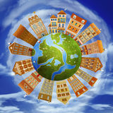 Homes and the planet Stock Photos