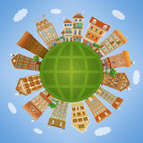 Homes and the planet Stock Image