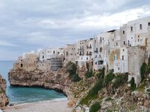 Homes in Polignano in Bari Stock Photography