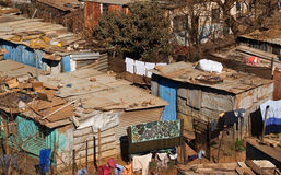 Homes of the poor. Homes of the poor, the shanty town of Soweto is packed with accomodation of this standard. Soweto is the most populous black urban royalty free stock photography