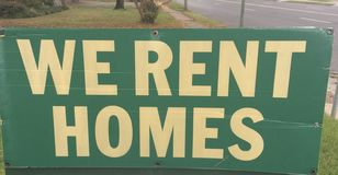 Homes, Property for Lease or Rent to Own royalty free stock photos