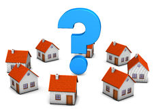 Homes Question Mark Stock Image