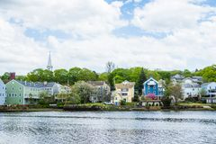 Homes in Quinnipiac River Park in New Haven Connecticut.  Stock Photo