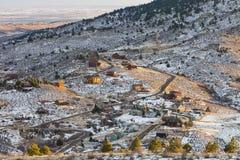 Homes in Rocky Mountains, Colorado Stock Photo