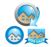 Homes for sale Royalty Free Stock Photos