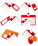 Homes for sale. Vector illustration, AI file included Royalty Free Stock Image
