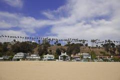 Homes on Santa Monica Beach Stock Photo