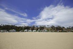 Homes on Santa Monica Beach Royalty Free Stock Photos