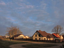 Homes in sunrise colors Royalty Free Stock Photography