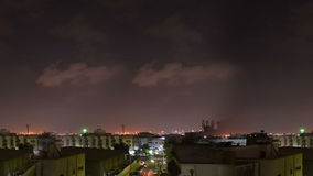 Homes surface in south jeddah at night with clouds  time lapse loop stock video
