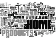Are Homes Toxic Word Cloud Royalty Free Stock Photos