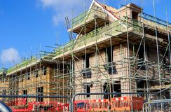 Homes under construction Stock Image