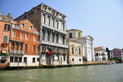 Homes in venice. Shot of houses by the canal in venice Royalty Free Stock Photography