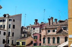 Homes in Venice. Royalty Free Stock Images