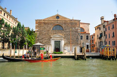 Homes in venice, italy. Shot of houses by the canal in venice Royalty Free Stock Images