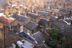 Homes in Waterloo, London, UK. Rows of houses in Waterloo, London, UK stock photo