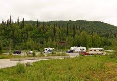 Homes on wheels in alaska Royalty Free Stock Photo