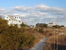 Homes on Wrightsville Beach, North Carolina Royalty Free Stock Images