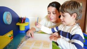 Homeschooling stock video footage