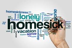Homesick word cloud Stock Image