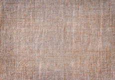 Homespun cloth background. In brown color stock photography